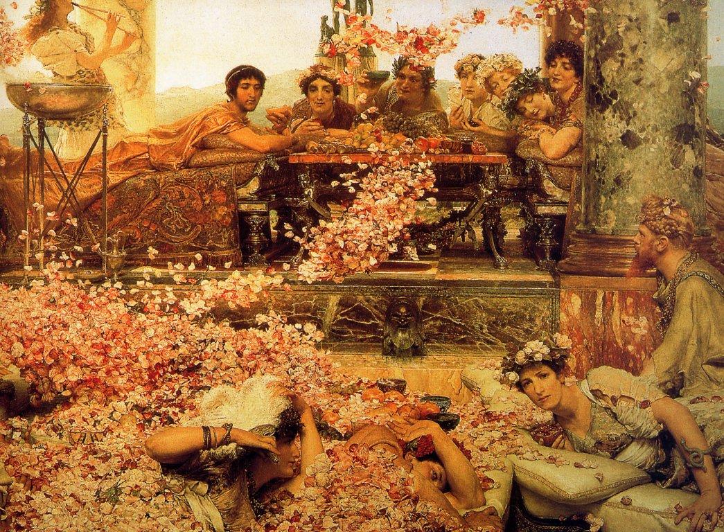 Lawrence-Alma-Tadema-Les-Roses-dElagabal-detail-,-De