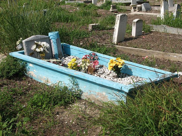 bright blue grave