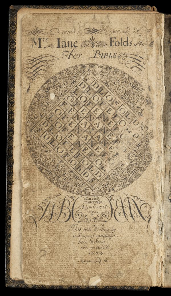 Frontespizio per una Bibbia realizzato da Buchinger.